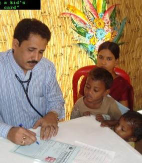 Indira Nagar slum in Visakhapatnam, AP